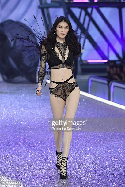 Sui He walks the runway at the Victoria's Secret Fashion Show on November 30 2016 in Paris France