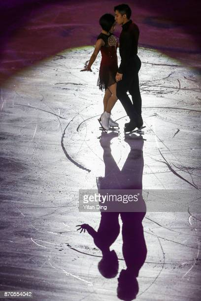Sui Wenjing and Han Cong of China perform during exhibition program of Audi Cup of China ISU Grand Prix of Figure Skating 2017 at Beijing Capital...