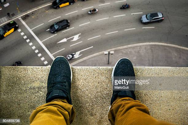 suicide about to jump - high section stock pictures, royalty-free photos & images
