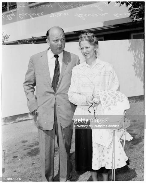 Suicide and murder 2 July 1959 Allie May Packard Attorney Culver Van BurenCaption slip reads 'Photographer Lou Mack Date Assignment Allie May Packard...