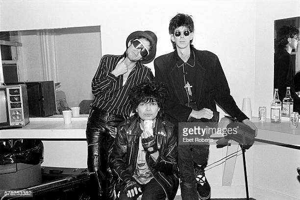 Suicide backstage with Ric Ocasek of The Cars at The Ritz in New York City on October 21, 1989.