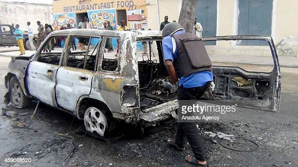 Suicide bomber detonated an explosive-laden car near a hotel on Mecca Street, at least one killed and one wounded, in Mogadishu, Somalia, on November...