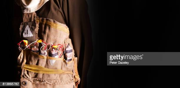 suicide bomber vest - detonator stock photos and pictures