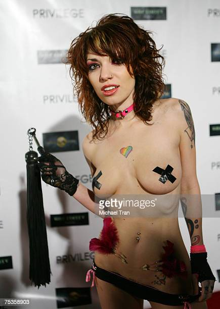 Suicide Girl poses at the Captivity Movie Release Party at Privilege Nightclub on July 10 2007 in Hollywood CA
