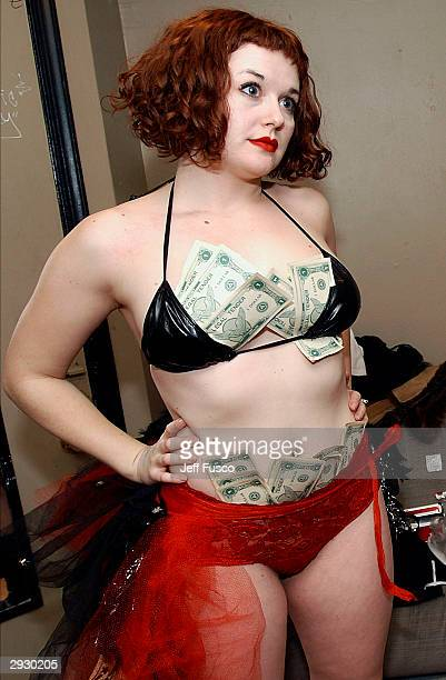 Suicide Girl Violet poses backstage at The Trocedaro Theater February 4 2004 in Philadelphia PA The burlesque act is made up of six women featured on...