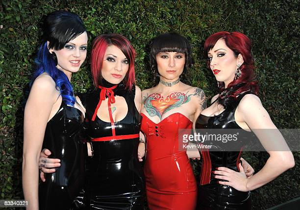 Suicide Girls arrive at Spike TV's 2008 Scream awards held at the Greek Theater on October 18 2008 in Los Angeles California