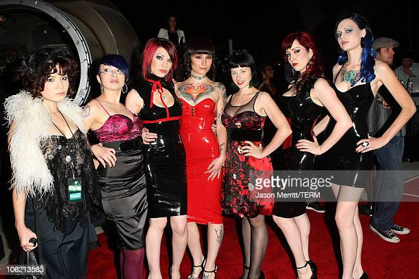 Suicide Girls arrive at SPIKE TV's Scream 2008 Awards held at the Greek Theatre on October 18 2008 in Los Angeles California