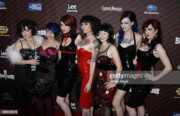 Suicide Girls arrive at the Spike TV's Scream 2008 Awards at The Greek Theater on October 18 2008 in Los Angeles California