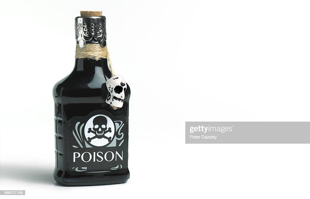 Suicide poison bottle : Stock Photo