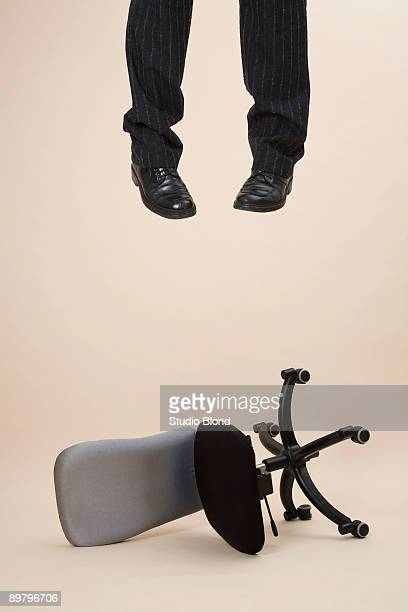 a suicide's legs hanging  - hanging death photos stock pictures, royalty-free photos & images