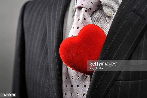 Suit and heart
