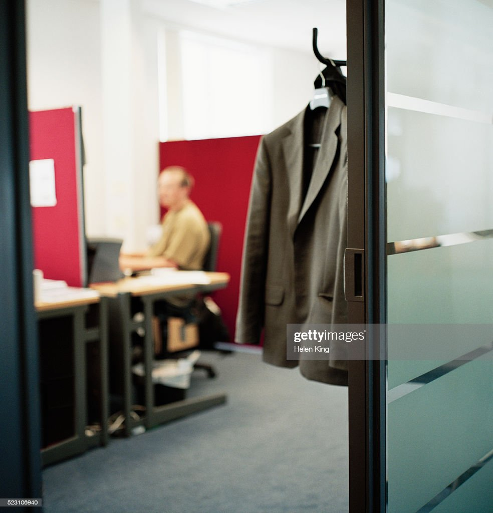 Suit Jacket Hanging On Office Coat Hanger Stock Photo Getty Images