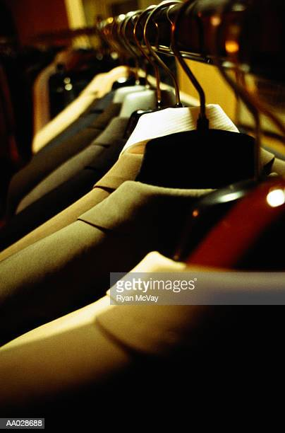 Suit Jackets Hanging in Closet
