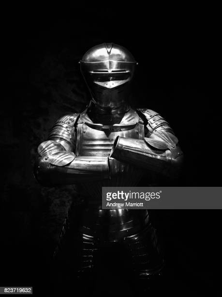 suit of armor - medieval stock photos and pictures