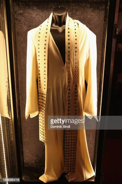 Suit of Elvis Presley at the exhibition Hard Rock Couture Music Inspired Fashion at the Hard Rock Cafe on March 14 2013 in Munich Germany