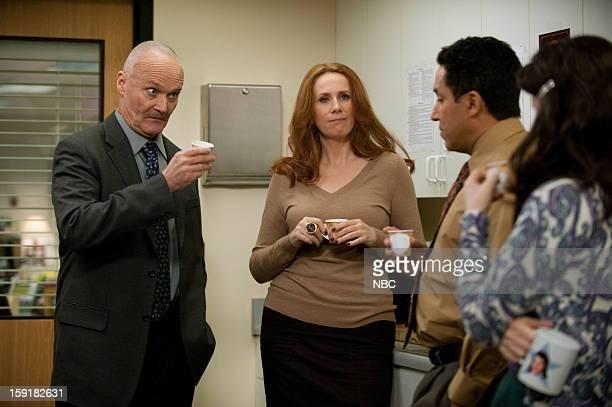 THE OFFICE Suit Warehouse Episode 912 Pictured Creed Bratton as Creed Bratton Catherine Tate as Nellie Bertram Oscar Nunez as Oscar Martinez