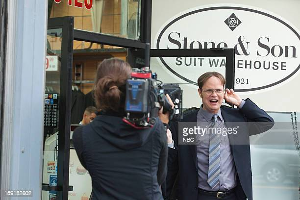 THE OFFICE Suit Warehouse Episode 912 Pictured Rainn Wilson as Dwight Schrute