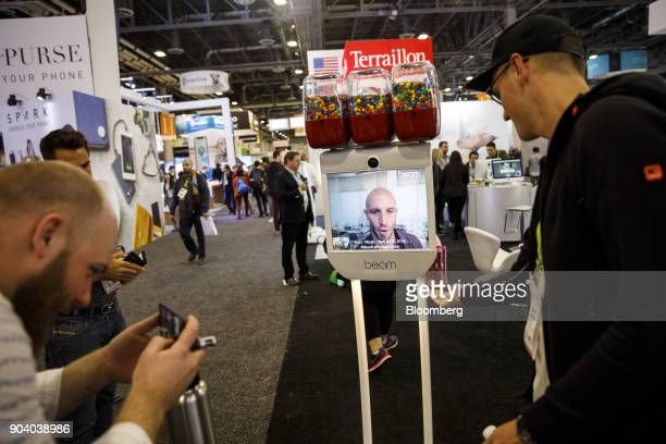 A Suitable Technologies Inc Beam smart presence system is demonstrated at the 2018 Consumer Electronics Show in Las Vegas Nevada US on Thursday Jan...