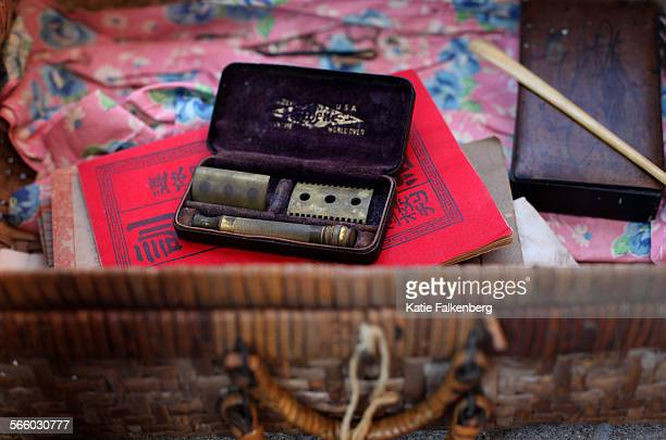 A suitcase and its belongings that Jack Ong's mother Jeung Shee carried as she entered America through the immigration center on Angel Island Her...