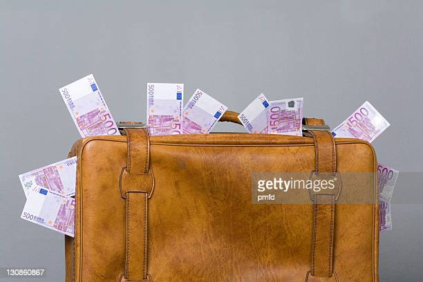 Suitcase filled with cash