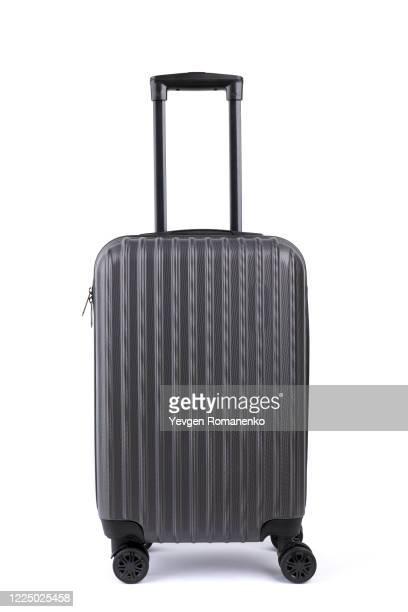 suitcase isolated on white background - valigia foto e immagini stock