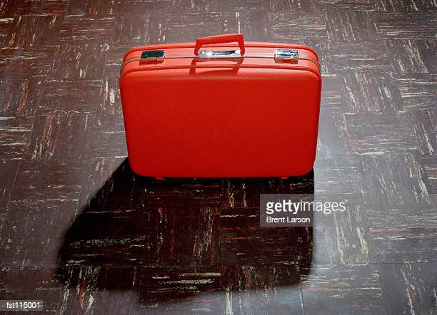 Suitcase on floor