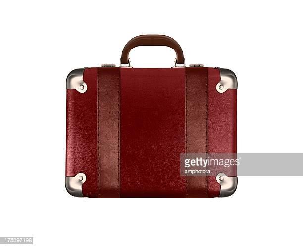 valise - sac à main rouge photos et images de collection