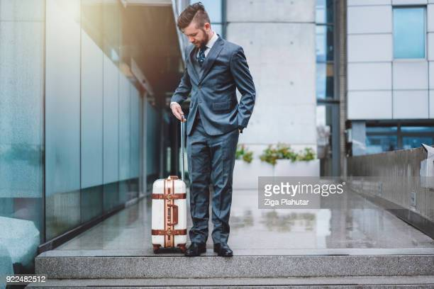 Suitcase wherever he goes