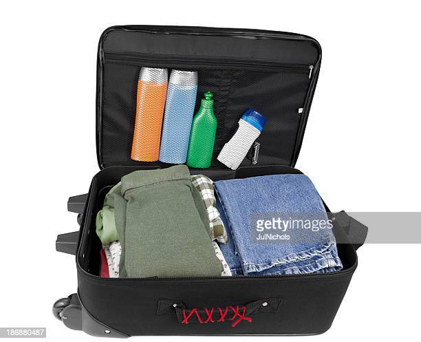 Suitcase with Clothes and Toiletries