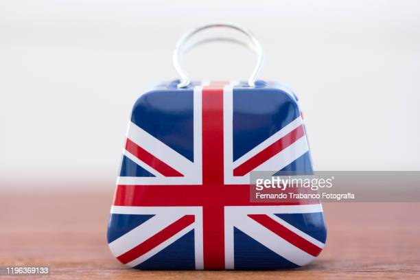 suitcase with english flag - brexit stock pictures, royalty-free photos & images