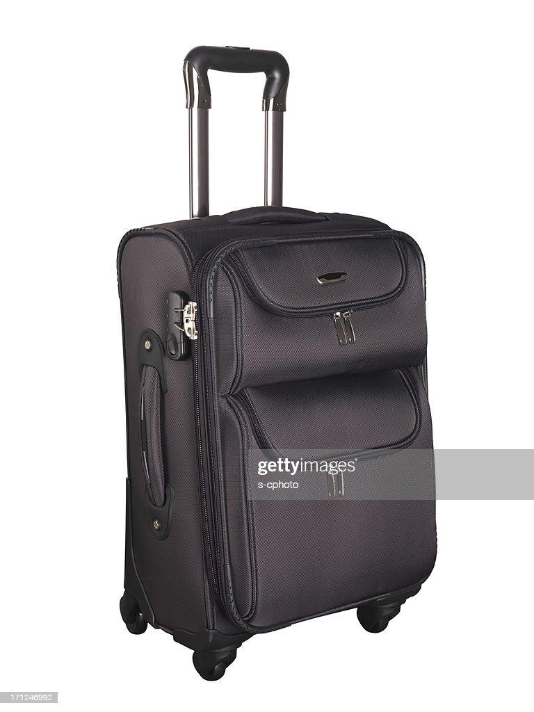 スーツケースクリッピングパス(詳細)をクリックします。 : ストックフォト