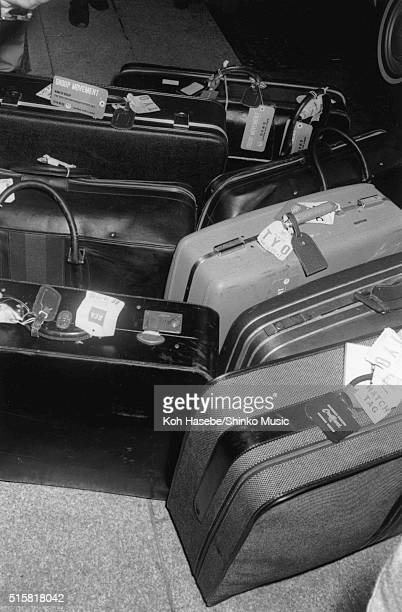 Suitcases belonging to The Beatles Tokyo Hilton Hotel Japan July 2 1966