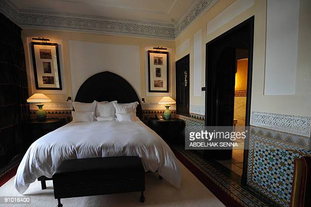 A suite at the legendary Marrakesh hotel La Mamounia is seen on September 19 2009 before its reopening on September 27 following a threeyear...