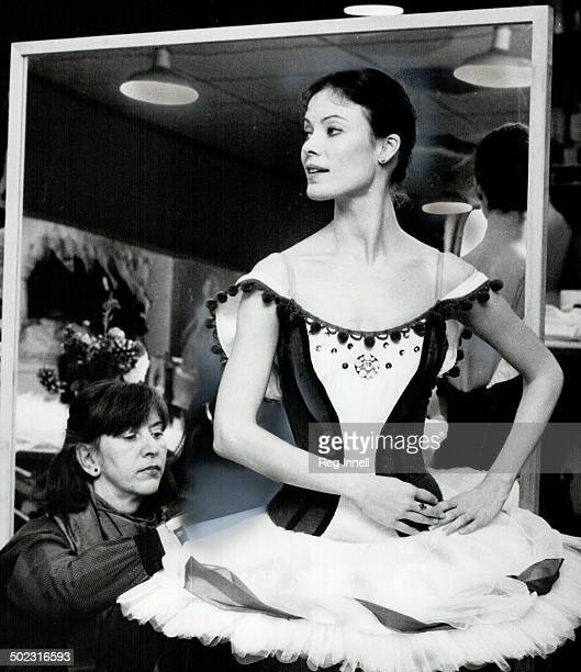 Suiting up Karen Kain is fitted for her costume for The National Ballet company's production of Don Quixote which will take to the O'Keefe Centre...
