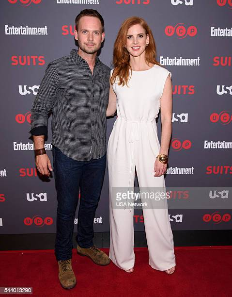 SUITS Suits/Entertainment Weekly Season 6 Premiere Screening Pictured Patrick J Adams Sarah Rafferty