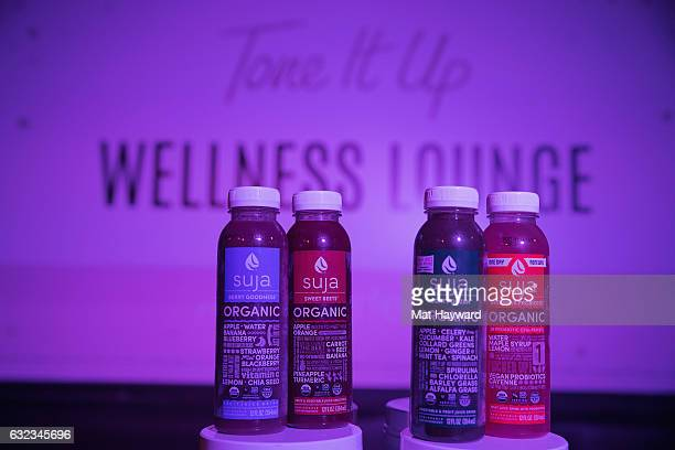 Suja products inside the Tone It Up Wellness Lounge during the Sundance Film Festiva on January 21, 2017 in Park City, Utah.