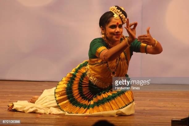 Sujata Nair Sanjay performs the Mohini Attam dance during the 24th Ram Marathe Musical Festival a five day festival from 31st Oct to 4th Nov...