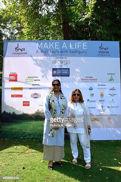 Sujata Swarup and Manju SawhneyMahindra followers of the Indian yogi and mystic Sadhguru Jaggi Vasudev and his Isha Foundation at the Make A Life...