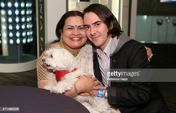 Sukanya Shankar and musician Dhani Harrison at Ravi Shankar: Celebrating A Life In Music at The GRAMMY Museum on April 28, 2015 in Los Angeles,...