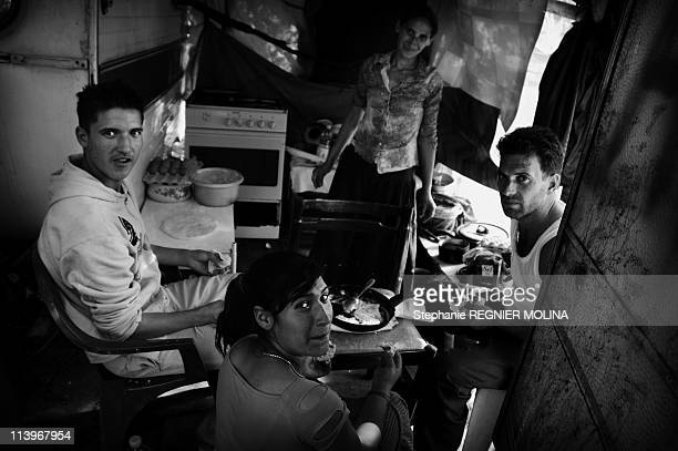 Sukar Stories, Two Years With Gipsy Family From Romania In A Shanty-Town In Mery Sur Oise, France On January 01, 2007-Daily life. Romanian Roma...