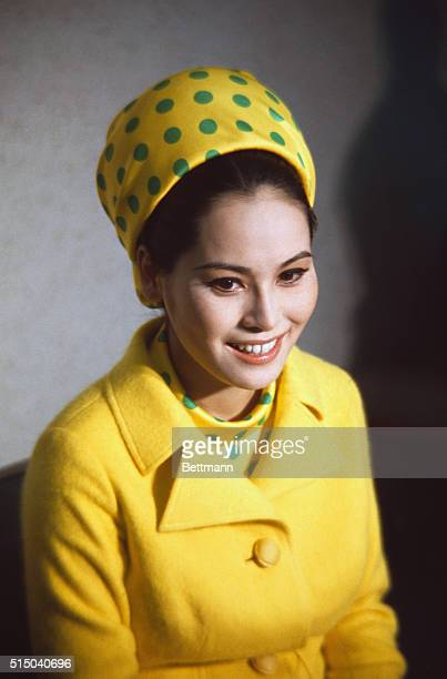 Sukarno Mrs Achmad Wife of former Indonesian Pres Closeups Ratna Sari Dewi prior to leaving Keio University Hospital with her noew born baby girl