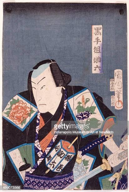 Sukeroku of the Black Hand Gang by Japanese artist Toyohara Kunichika late 1800s Gift in memory of Charles C Kryter