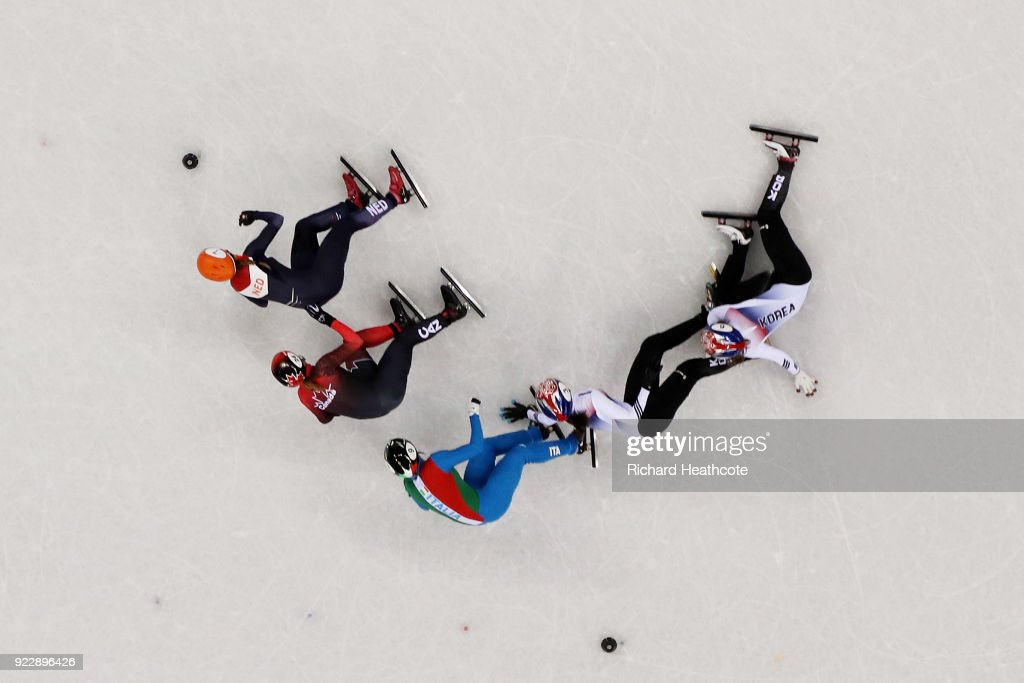 Short Track Speed Skating - Winter Olympics Day 13