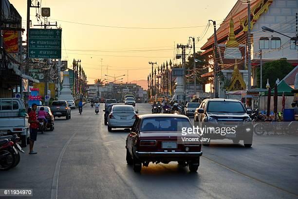 Sukhothai street landscape Thailand, Asia