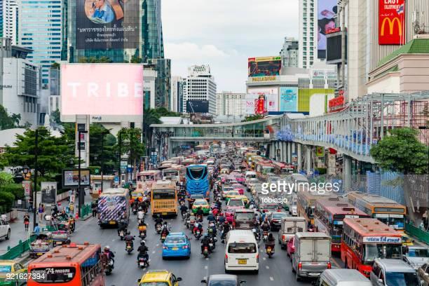sukhumvit bangkok - emerging markets stock photos and pictures