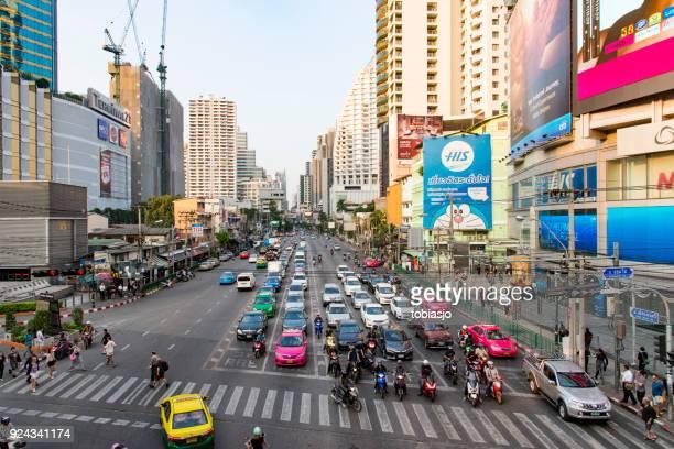sukhumvit bangkok, thailand - emerging markets stock photos and pictures