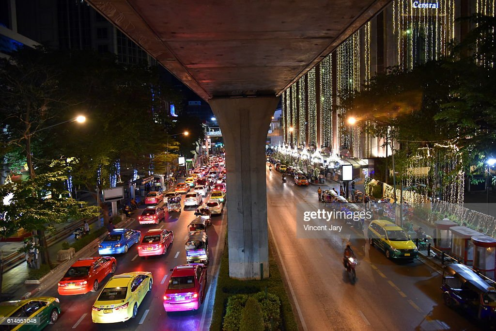 sukhumvit urban landscape by night Bangkok Thailand, Asia : Photo