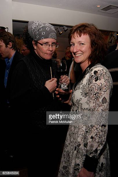 Suki O'Kane and Trish Stone attend Whitney Biennial Artists Party at Trata Estiatoria on March 8 2008 in New York City