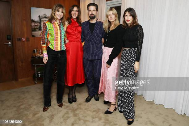Suki Waterhouse Alexa Chung Jack Guinness Camille Charriere and Jeanne Damas wearing ALEXACHUNG attend Alexa Chung's CHUNGSGIVING dinner to celebrate...