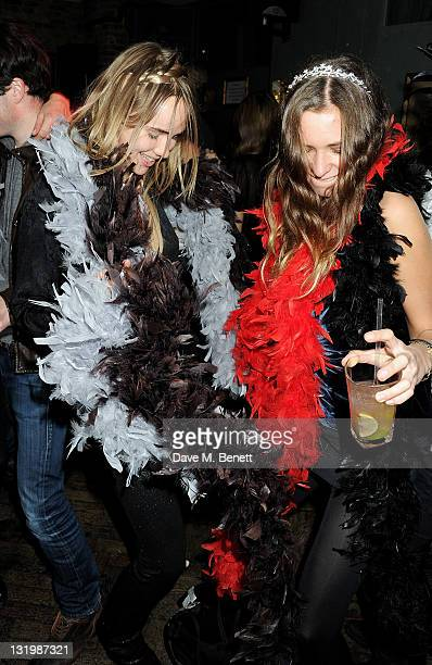 Suki Waterhouse and Alice Brinkley attend the Alice Olivia Black Tie Carnival hosted by designer Stacey Bendet at Paradise by Way of Kensal Green on...